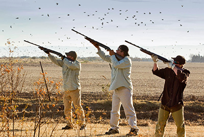 3 Dove Hunting Shooters in Cordoba Argentina
