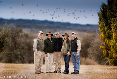 Group Pictures of Argentina Dove Hunting Shooters