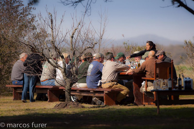 Having Lunch at the Los Chanares Dove Hunting Lodge